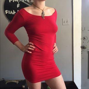 Red Body Con Mini Dress